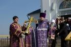 Установка Креста на колокольню, 30 марта 2008 г.