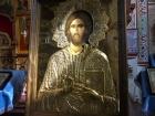 Настоятель Афонского монастыря Ватопед передал в дар икону Иисуса Христа Вседержителя  (рис.1)